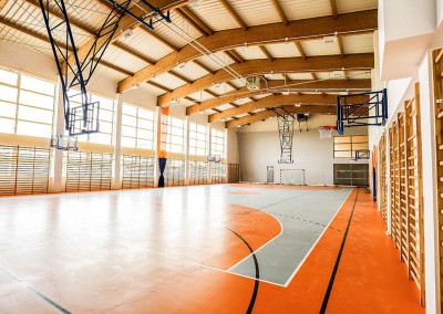 Sala gimnastyczna wraz z częścią dydaktyczną w Śniadowie