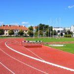 Stadion lekkoatletyczny w Ostródzie przy ul. Kardynała Wyszyńskiego.