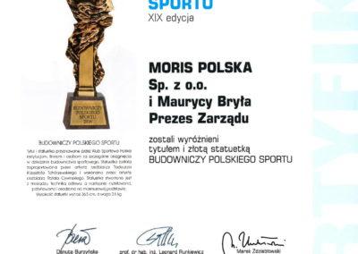 Gala Sportowa Polska - Złota stauetka dla Moris Polska 09_2018-1