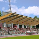Zadaszenie nad trybuną stadionu miejskiego w Legionowie