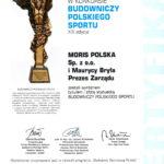 Moris Polska Sp. z o.o. laureatem tytułu i złotej statuetki w konkursie Budowniczy Polskiego Sportu 2018